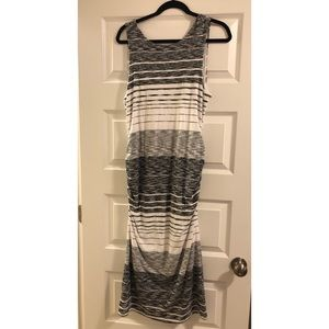 Athleta maxi dress with rouching on the sides